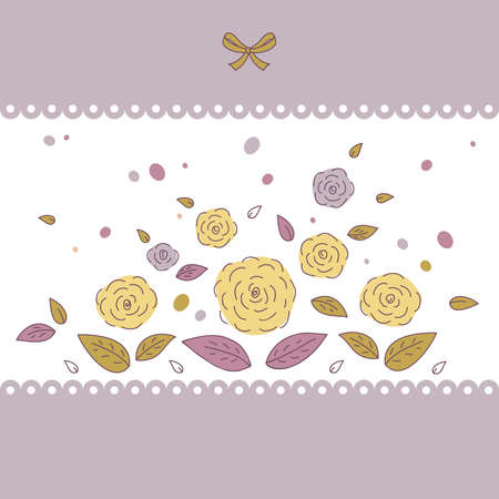 Beautiful card with flowers. An illustration  with space for your message Vector