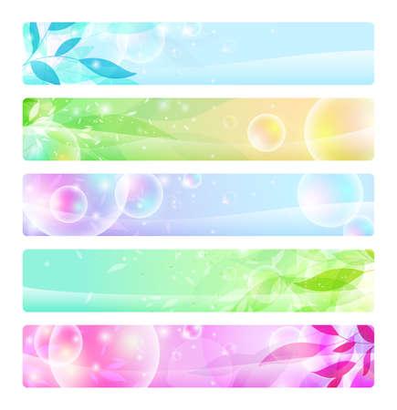 voorraad set: glanzende banners kleurrijke, headers
