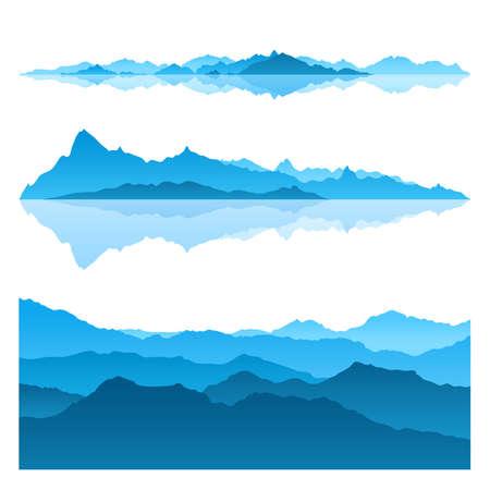 青い山の素晴らしいビュー