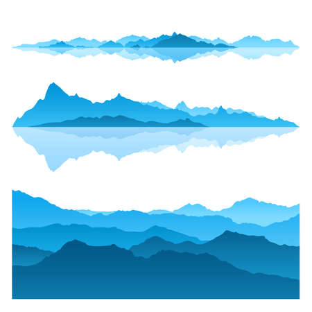 Nice view of the Blue Mountains  Vector