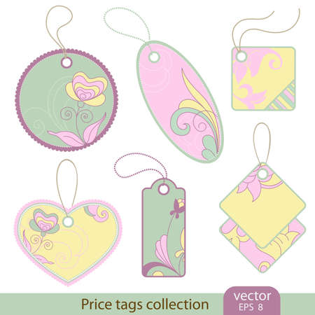 Price tags - 6 itemS Stock Vector - 9842914