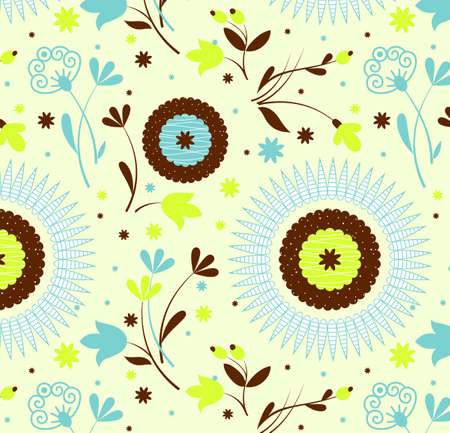 Seamless pattern petro floral,an Illustration