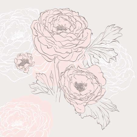 Fondo floral.  Vectores