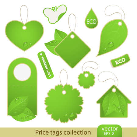 Tags - ECO, 11 items Stock Vector - 9832899