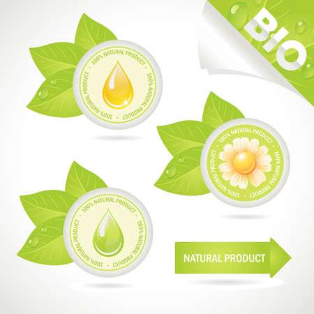 Elementos del concepto: producto natural. Una ilustraci�n,  Vectores