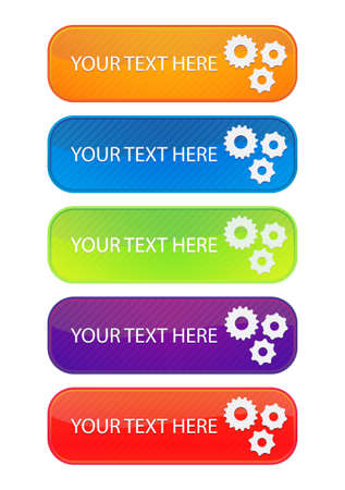 set of 5 colorful web banners Stock Vector - 9832927