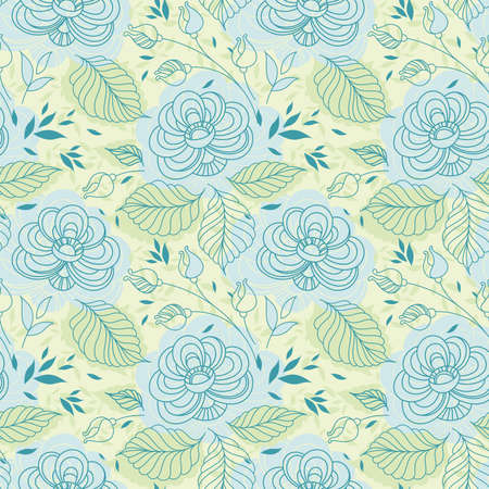 delicate blue flowers seamless pattern Vector