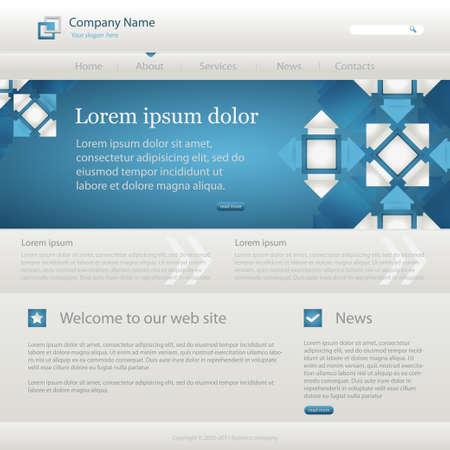 Blue website creative template, vector illustrations. eps10 Stock Vector - 11674080