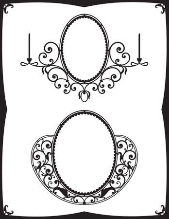 forge: Two wrought-iron frames for mirrors