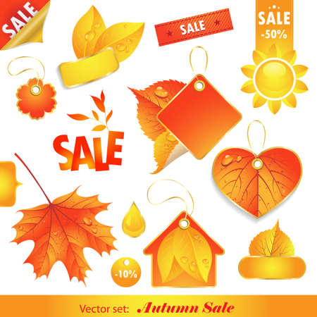 Autumn Sale. Set of  labels for sale