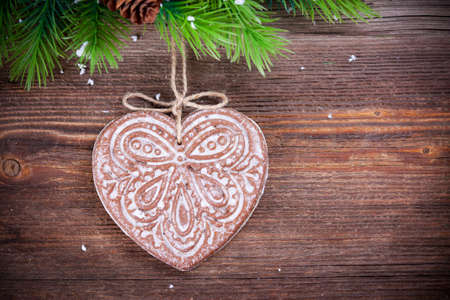 Christmas decoration  with gingerbread Stock Photo - 16033910
