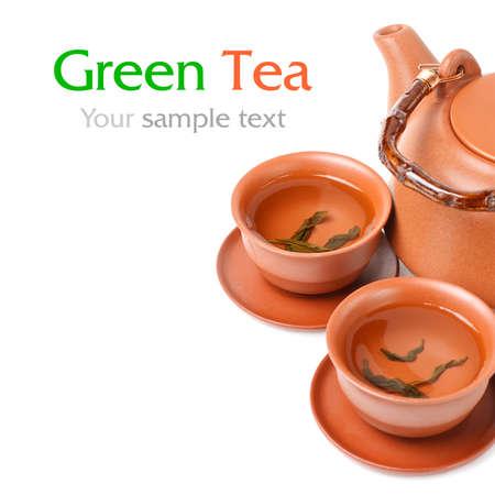 sample text: Asian tea set  with sample text