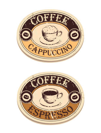 Vintage label coffee Vector