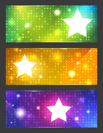 Colorful vector banners with bright stars Stock Vector - 18440527