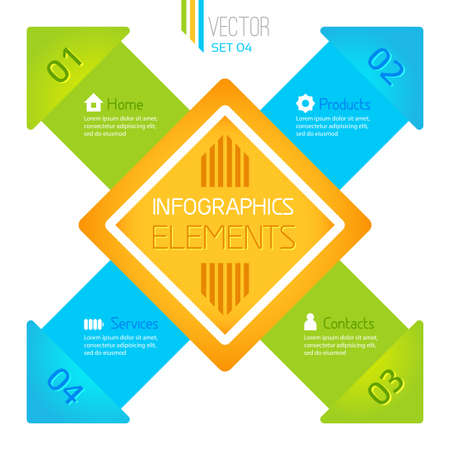 Vector infographic elements original square tags Stock Vector - 21409353
