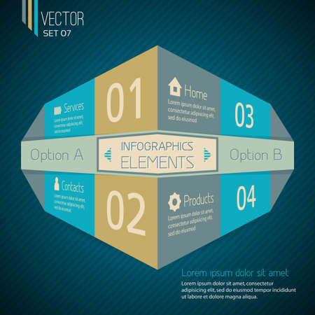 Original Infographic design template with space for your text Stock Vector - 21409357