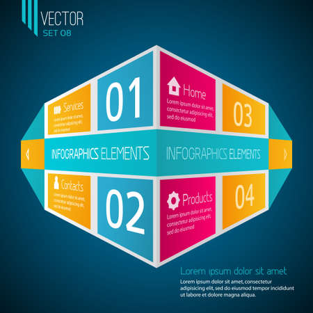Infographic web template Stock Vector - 21409359