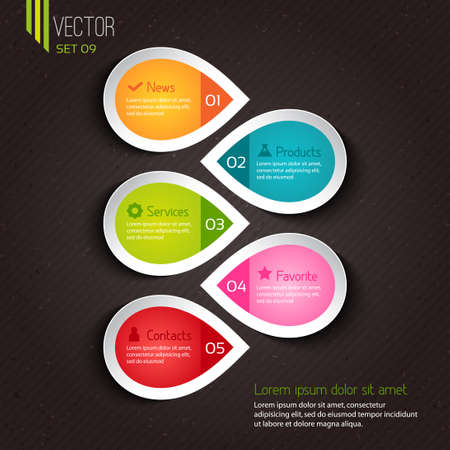 Infographic design for businesses Stock Vector - 21409360