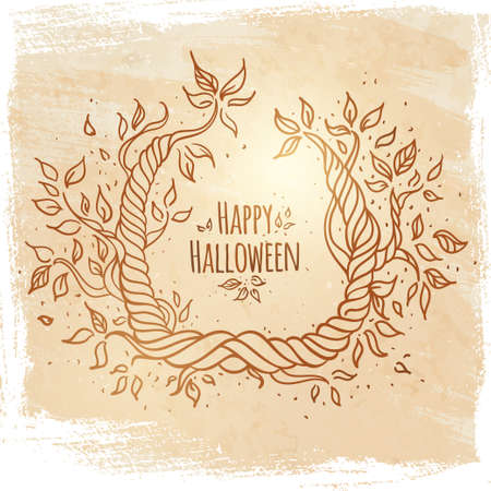 Hallowen card  with space for text  Vector