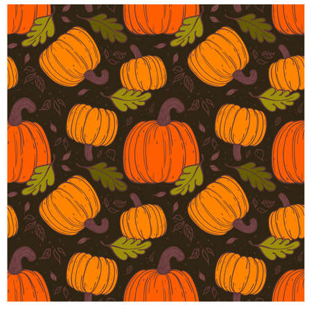 Pumpkin  seamless pattern   Use for wallpaper, textiles, pattern fills, web page background Vector