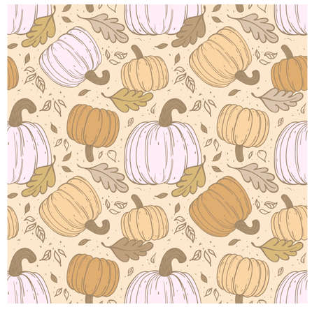 hallowen: Hallowen hand-drawn seamless pattern   Use for wallpaper, textiles, pattern fills, web page background