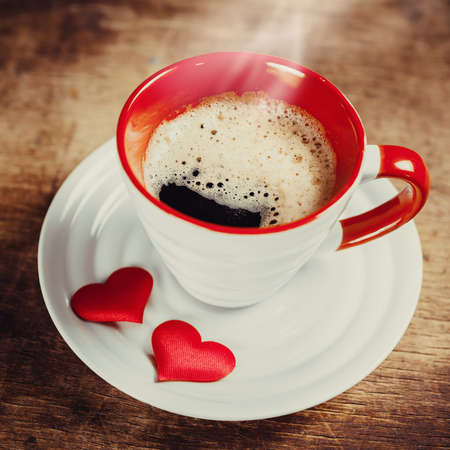 Morning coffee for a loved one. Valentines day. Love concept photo