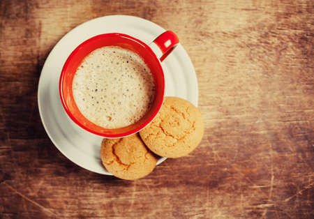 Coffee and  biscuits photo