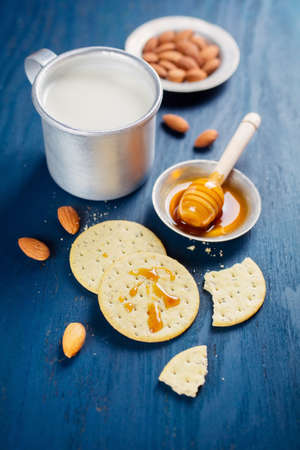 manjar: deliciosas galletas Foto de archivo