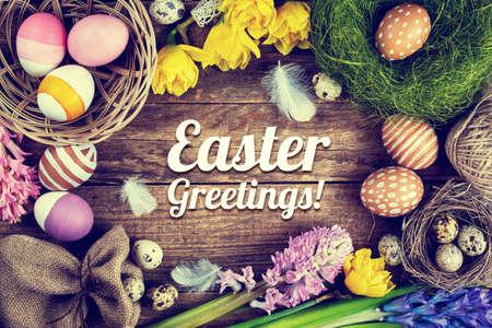 Easter, Vintage background