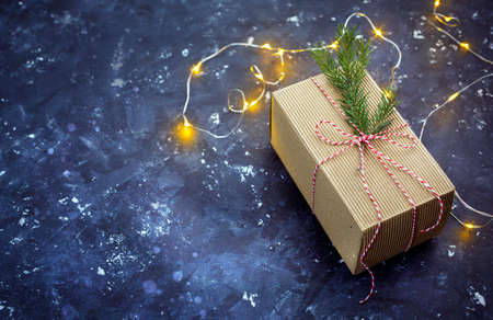 Gift for Christmas  with lights and free text space