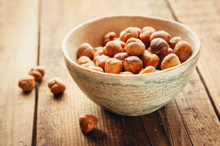 allergic ingredients: Hazelnuts in a bowl
