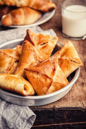 Homemade baked pasties