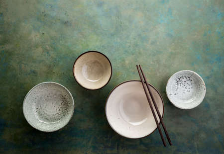 ware: Empty ceramic bowls