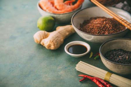 Ingrediënten voor het koken Stockfoto
