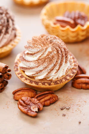 Delicious mini tarts Stock Photo