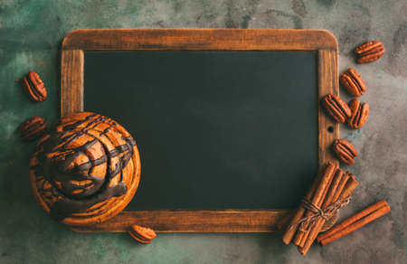 Blackboard for recipes or food menu.