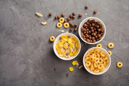 Bowls with cereals