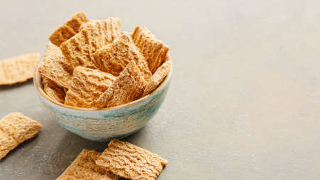 Whole-grain crackers in a bowl