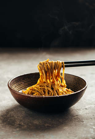 Noodles in a bowl Stockfoto