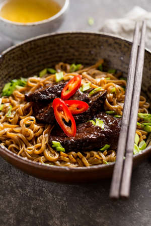 Japanese noodle with beef