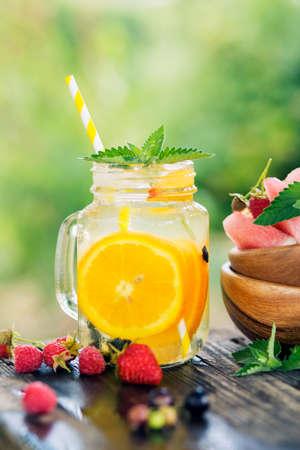 Ice refreshing summer drink.
