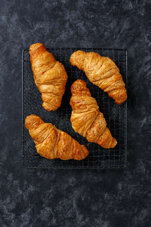 Croissants on a cooling rack 免版税图像