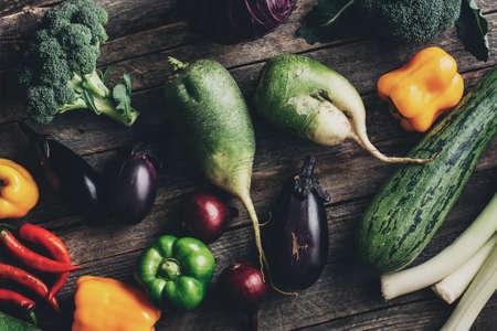 Fresh organic raw vegetables 写真素材