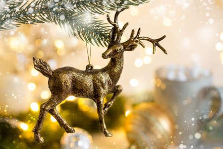 Weihnachten mit festlicher Dekoration Standard-Bild