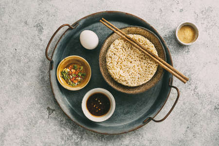 Traditional Asian Instant Noodles Stock Photo