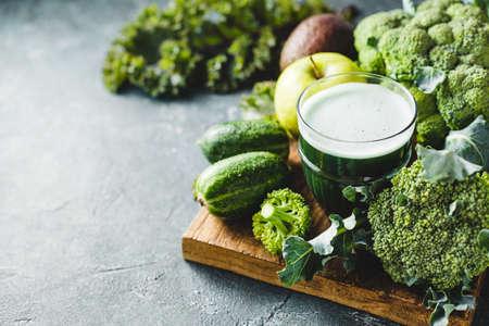Green cocktail of healthy vegetables Reklamní fotografie