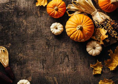 Autumn background with festive decoration. Reklamní fotografie