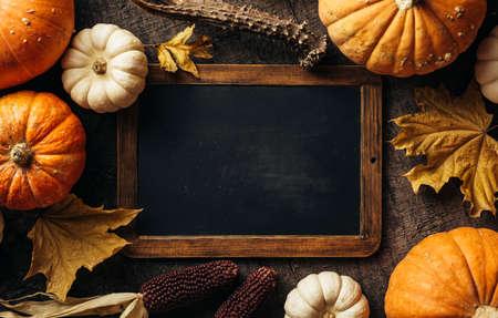 Autumn background with festive decoration Reklamní fotografie - 128553868