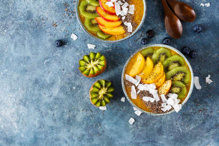 Healthy Mango Smoothie Stok Fotoğraf