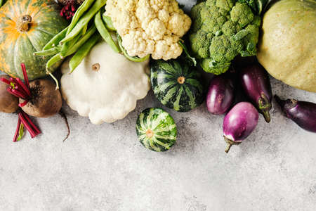 Organic raw vegetables Reklamní fotografie - 130028449